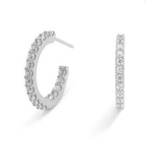 NADRI.925 SMALL PAVE INSIDE OUT HOOP